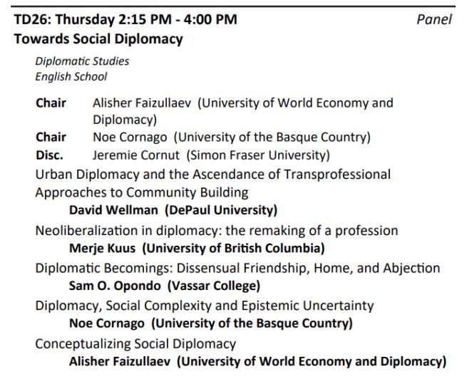 Social Diplomacy Panel